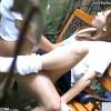【 盗撮動画 】人気ない路地ベンチで野外SEXする性欲旺盛な学生カップルを完全盗撮!!!