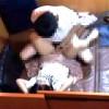 【 盗撮動画 】マンガ喫茶のペアシートで素人カップルのサイレントSEX盗撮www※防犯カメラ映像