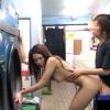 【 盗撮動画 】もしもコインランドリーでAV女優が裸で誘惑して来たら…※ハプニングSEX盗撮企画!!!