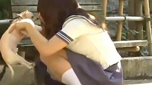 【 盗撮動画 】チワワ首輪に盗撮カメラを仕掛けて犬好きJKのパンチラGETだぜwwwww