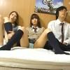 【 盗撮動画 】同級生JKと自宅でAV鑑賞!!発情させて奇跡の3Pセックス初体験したったwwwww