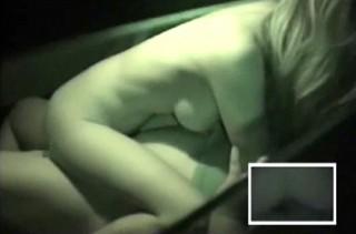 【 盗撮動画 】闇夜に隠れてカーセックスする若いカップルを狙い赤外線盗撮したリアル映像!!!