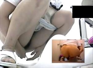 【 盗撮動画 】病院女子トイレに潜入して白衣ナースのタンポン取り替える瞬間を盗撮したマニアック映像!!!