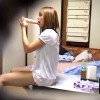 【 盗撮動画 】ギャル彼女の私生活を観察しようと自宅盗撮したら●●●していた衝撃映像!!!