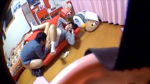 【盗撮動画】血気盛んで好奇心旺盛なヤリマンJKの放課後活動をご覧下さい。※自宅SEX盗撮映像