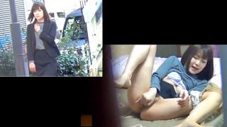 【 盗撮動画 】美人OLお姉さんの表と裏の顔を同時にお楽しみ下さいwww※自宅オナニー盗撮映像