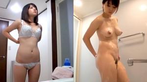 【 盗撮動画 】可愛い巨乳お姉ちゃんのお風呂場シーンをガチ盗撮した家庭内映像…※変態弟からの投稿