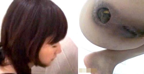 【盗撮動画】便秘お姉さんとウ○コの壮絶な戦いをご覧下さい…※閲覧注意