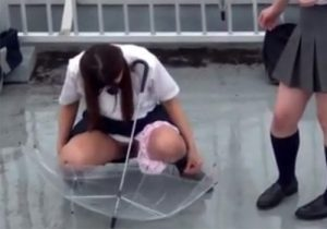 【 隠撮動画 】女子校生の悪ふざけを隠し撮り…学校の屋上や公園で友達と放尿を見せ合ってるwww