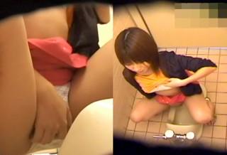 【 盗撮動画 】可愛い女の子の公衆便所オナニー盗撮映像を死角なし絶景アングルからお楽しみ下さい。