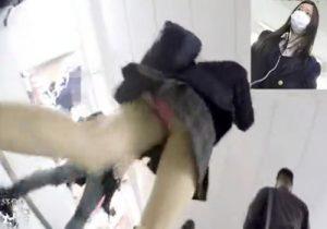 【 盗撮動画 】駅構内で制服JKを尾行しながらスカート内を執拗に撮影したパンチラ映像!!!