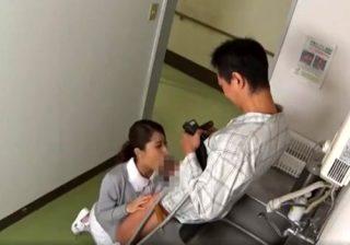【病院隠撮動画】風俗で働いた美人ナースを脅す男性患者…スマホで撮影しながらフェラさせるwww