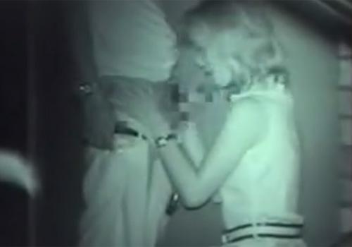 【赤外線盗撮動画】深夜の公園で彼氏のチンポをおしゃぶりする彼女がイヤらしいぞwww